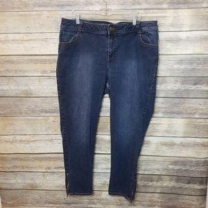Lane Bryant Genius Fit Ankle Skinny Zipper Jeans